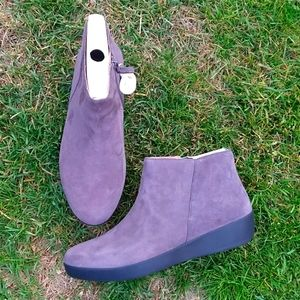 NWT Fitflop steel Grey Suede Sumi Bootie NEW